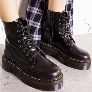 """Dr Martens 8 eye boots. 1.75"""" platforms"""